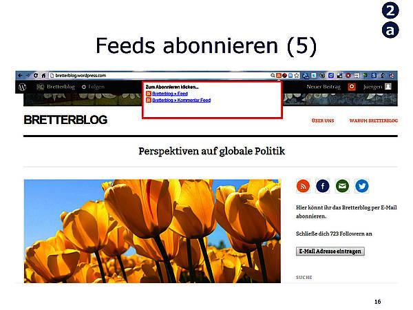 Feeds-Anzeige im Google Reader