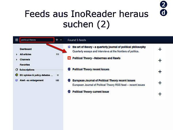 Im Google Reader Feeds suchen