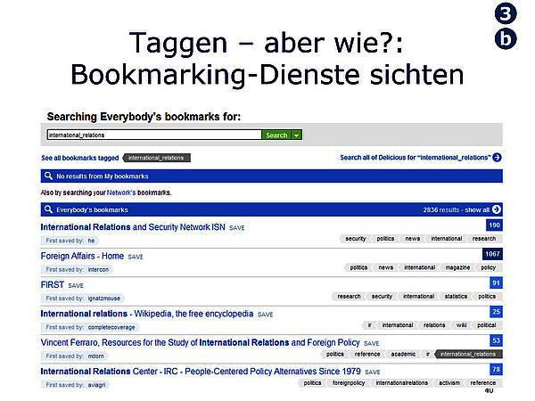 Taggen - aber wie? Bookmarking-Dienste sichten