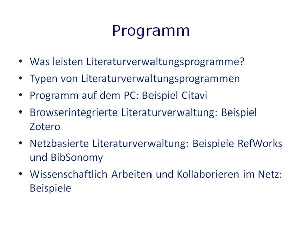 Gesamtprogramm