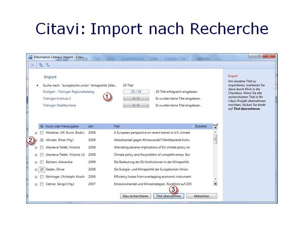 Citavi: Import 1