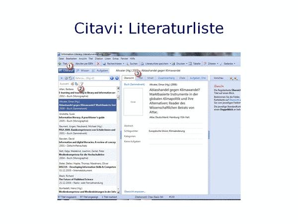 Citavi: Literaturliste