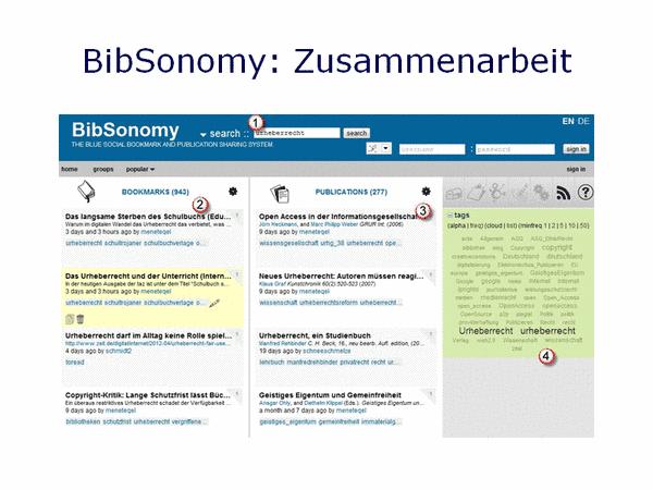 BibSonomy: Zusammenarbeit