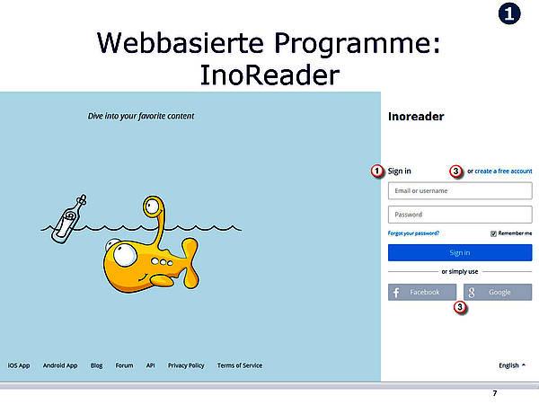 Webbasierte Programme - Google Reader