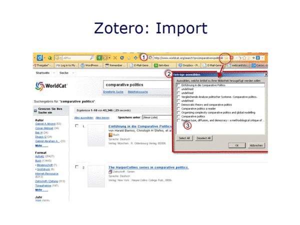 Zotero: Import