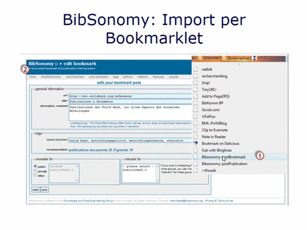BibSonomy: Import