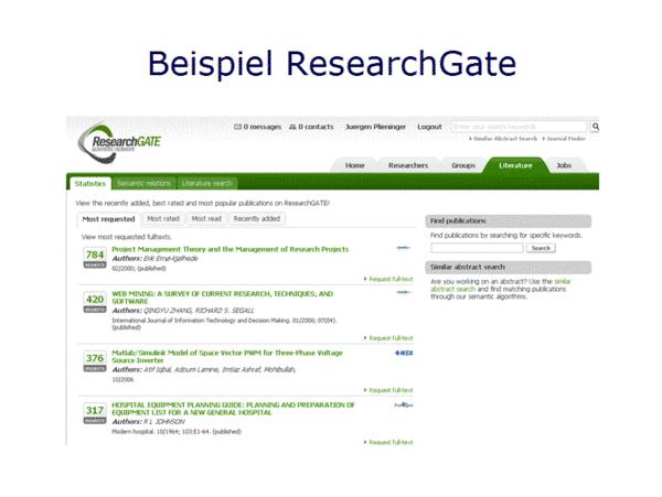 Beispiel ResearchGate