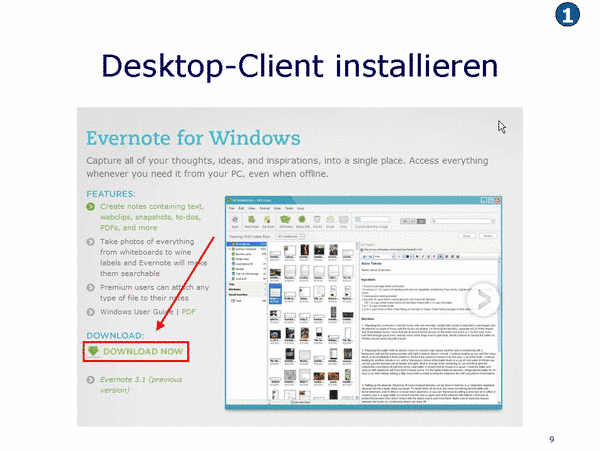 Desktop-Client installieren