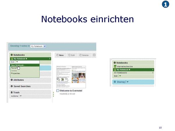 Notebooks einrichten