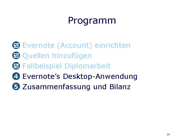 Evernote Desktop Anwendung