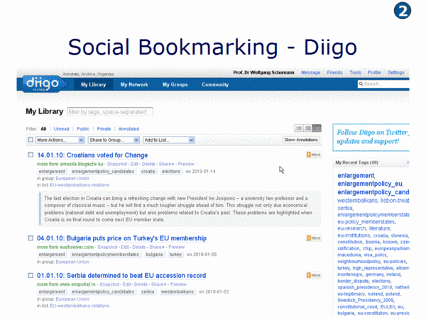 Diigo Social Bookmarking