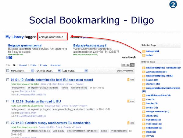 Informationen mit Diigo wiederfinden