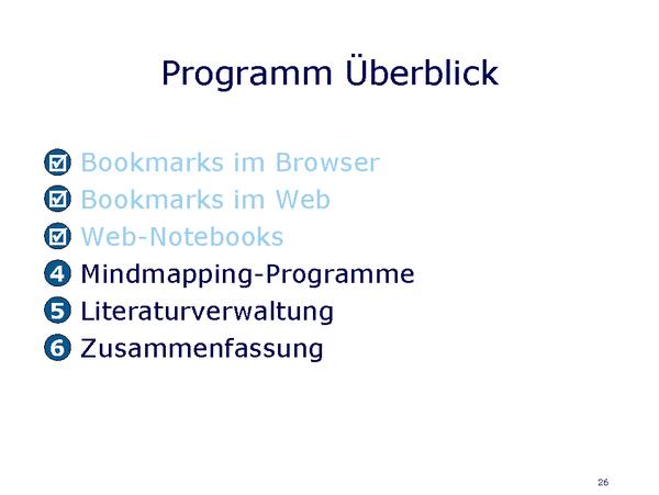 Programm Überblick