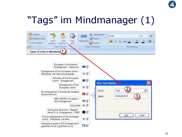 Tags im Mindmanager