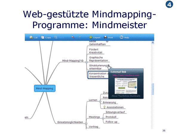Web-gestützte Mindmapping-Programme: Mindmeister