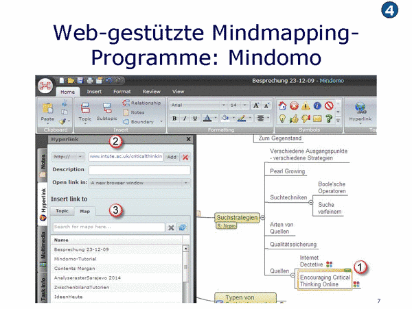 Web-gestützte Mindmapping Programme: Mindomo