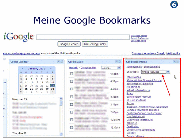 Meine Google Bookmarks